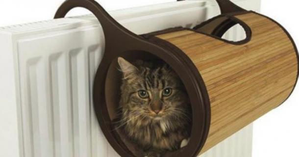 Cuccia da termosifone, come rendere felice il vostro gatto :)